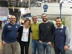 Roby con gli amici colelghi di Onda Buena, Jerry, Fabio, Salvatore al salone di Dusseldorf 2015