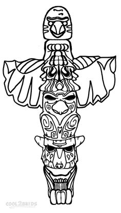 indian totem pole coloring pages | 17 Best totem pole coloring pages images in 2019 ...