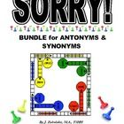 BUNDLE OF TWO GREAT SETS OF GAME CARDS-- SORRY Game Cards for ANTONYMS  SORRY Game Cards for SYNONYMS!!  What a great way to make practicing v...