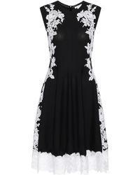 Oscar de la Renta   Knitted Merino Wool Dress With Lace   Lyst