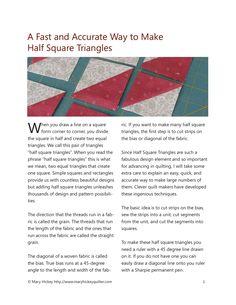 Half Square Triangle technique