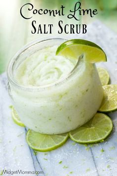 No time to hit up the spa? Make this Coconut Lime Salt Scrub and enjoy it at home! Refreshing and budget friendly, this Coconut Lime Salt Scrub is perfect!