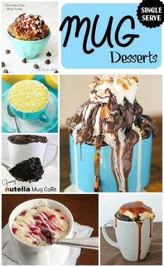 I am 100% for lazy, quick, and EASY desserts! This is why this round-up of single serve mug desserts has been one of my ALL TIME favorites to do!