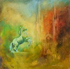 Wiesbaden - Luisenplatz- 40x40 oil on canvas