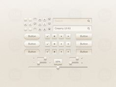 Creamy UI Kit buttons