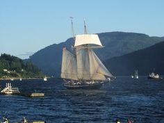 Tall ship in Port Alberni, Pacific Rim, Vancouver Island, BC.