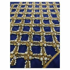 Cutwork Blouse Designs, Simple Blouse Designs, Bridal Blouse Designs, Hand Embroidery Videos, Hand Embroidery Designs, Zardozi Embroidery, Beaded Embroidery, Hand Work Design, Maggam Work Designs