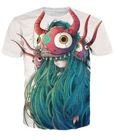 Check out this monstrously cool Hairy t-shirt! This all-over-print design features an original illustration of a child disguised as a badass monster. Get yours today. Designed by: Nathaniel Rueda Prod
