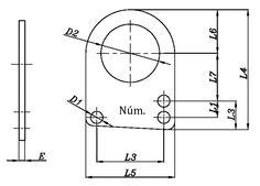Dibujo técnico de Anilla Cerrada. Anilla adaptable a muelles de tracción, para hacer la funcióm de estirar sin fatigar ni desgastar el muelle. Fabricado en Hierro ST37 y recubrimiento cincado.