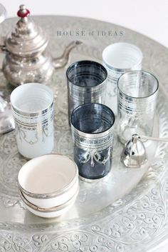 Marooccan tea glasses/tea service