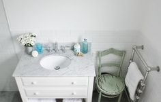 beach cottage bathrooms | Beach Cottage Coastal Bathroom Renovation ~ Vanity - Beach Decor Blog ...