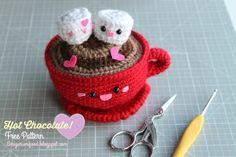 Amigurumi Food: New Update Hot Chocolate San Valentine's Day Free Pattern Amigurumi Food Crochet