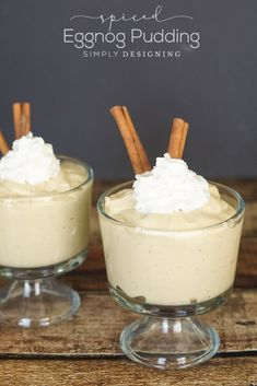 Spiced Eggnog Pudding Recipe