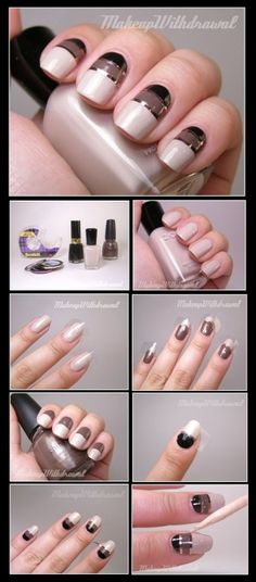 TUTORIAL – Metallic Striping Tape Nail Art #nails #nailart by Lorett