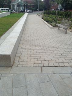 Manchester Cancer Research Centre - Mistral block, Granite seating & Celestia Paving