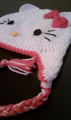 Crochet Hello Kitty Hat