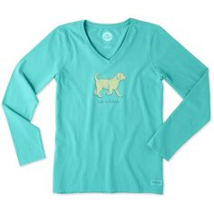 Women's Life Is Golden Long Sleeve Crusher Vee | Life is Good® Official Site MADDIE !