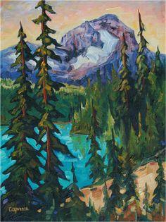 "'Nature's Magic' oil on canvas  12""X9"", private collection, Winnipeg, Man. www.CapriceArtStudio.com ."
