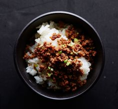 Try this technique on any type of ground meat for an easy rice bowl topper.