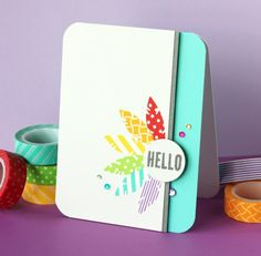 Can use my stampin up set  Bright & Cheery Hellos!