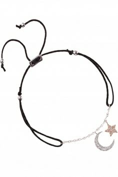 MOON Armband Weißgold Diamanten Meira T, Cord Bracelets, Casket, My Black, My Design, Rose Gold, Moon, Jewelries, Frosting