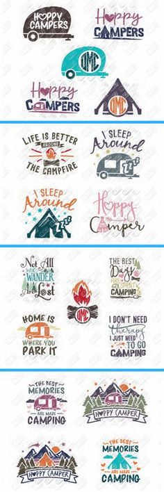 Love this Camper SVG Bundle for Cricut or Silhouette | Happy Camper SVG cut files | Not all who wander are lost | Cricut Project SVG files #ad #svg #svgfiles #cricut #cricutmade #cricutexplore #camping #camper #campvibes #camplife #silhouette #silhouettecameo #diyproject