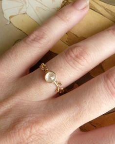 Rose Cut Diamond Wreath Ring