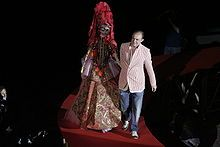 Christian Lacroix, 20 yrs of Haute Couture on the catwalk. July 2008.