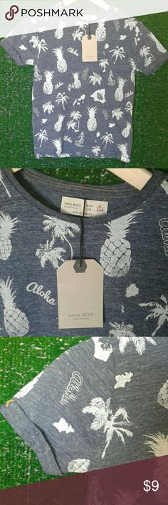 Brand new Zara boys shirt top Aloha shirt Zara Shirts & Tops