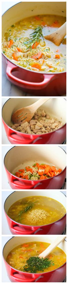 Lemon Chicken Orzo Soup -