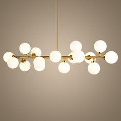 Boule de verre Lustre luminaire or corps suspendu lampe Creative suspension lampe G4X16 LED AC 85-265 V