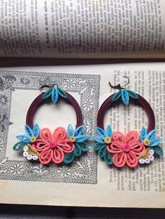 Items similar to Statement hoop earrings Contemporary jewelry Brown /coral /teal paper earrings Gift for her Photo prop Jewelry art Fashionable earrings on Etsy Quilling Earrings, Quilling Jewelry, Paper Earrings, Jewelry Art, Unique Jewelry, Hoop Earrings, Unique Earrings, Statement Earrings, Bohemian Jewelry
