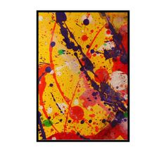 ACEO original abstract art miniature painting by 7RayedDesigns