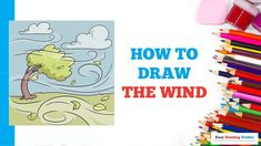 Cartoon Drawings, Animal Drawings, Easy Drawings, Drawing Tutorials, Art Tutorials, Wind Drawing, Popular Cartoons, Spiral Shape, Coloring Tutorial