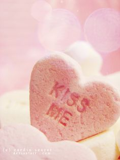 Candy Heart Kisses from an uber sweet girl.....thats perrrfect