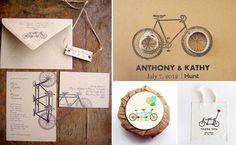 bike wedding stationery