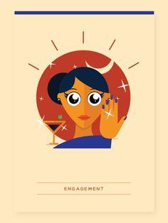 Navni and Tanuj (Wedding Invitation) on Behance Scroll Invitation, Engagement Invitation Template, Wedding Invitation Video, Creative Wedding Invitations, Invites, Wedding Entrance, Wedding Ceremony, Wedding Symbols, Adobe Illustrator Tutorials