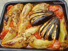 Dolma/Plnená paprika (fotorecept) - Recept Oven Recipes, Yummy Recipes, Paella, Cooking Time, Ham, French Toast, Pork, Yummy Food, Treats