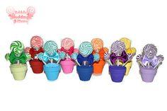 Custom Mini Lollipop Arrangement Wedding Favor by EdibleWeddings, $4.25
