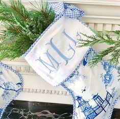 Blue and White Chinoiserie Christmas