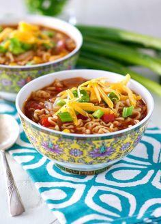 Barbecue Chicken Ramen Noodle Bowl | FaveHealthyRecipes.com
