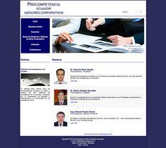 diseño y programación web para PROCOMPETENCIA, sitio informativo, joomla, css3