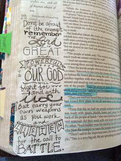 Nehemiah 4 Bible Verse Crafts, Scripture Art, Bible Art, Bible Verses, Journal Art, Art Journaling, Journal Ideas, Bibel Journal, Gods Not Dead