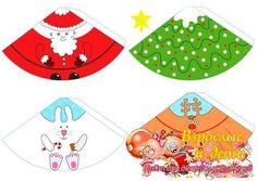 Новогодние бумажные куклы - Дед мороз, олень, заяц, эльф, ёлка