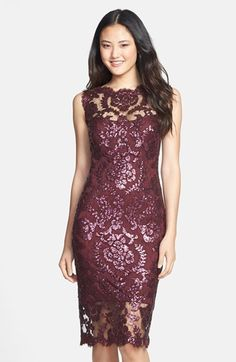 STUNNING embellished lace sheath dress