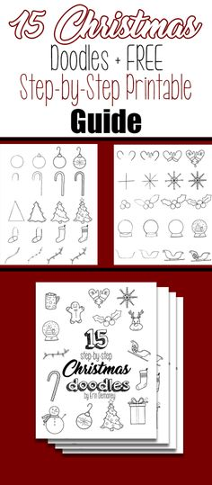 15 Step-by-Step Christmas Doodles for Your Bullet Journal + FREE Printable Guide Bullet Journal Christmas, December Bullet Journal, Bullet Journal How To Start A, Bullet Journal Junkies, Bullet Journal Art, Bullet Journal Inspiration, Journal Ideas, Journal Themes, Bullet Journals