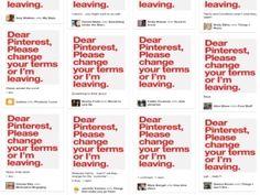 Pinterest terms worry users・・・著作権の問題で、何か運動が起こってるのかな?うーん、ちゃんと英語わかんないからもどかしいっす。