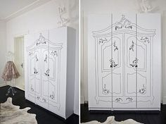 Sharpie + Ikea   perfect for a little girl's room