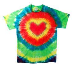 Tie Dye Shirt  Bright Heart Tie Dye by RainbowEffectsTieDye