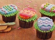 Cupcake de Pasqua (conills, ous i pollets) - totnens Duncan Hines, Cupcake Recipes, Cupcake Cakes, Baking Recipes, Cup Cakes, Baking Ideas, Easter Recipes, Holiday Recipes, Easter Cupcakes